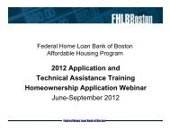 AHP Training - Homeownership - Federal Home Loan Bank of Boston