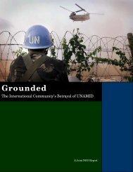 The International Community's Betrayal of UNAMID