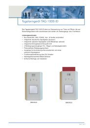 Tagalarmgerät TAG 1000-ID - ABI Sicherheitssysteme GmbH