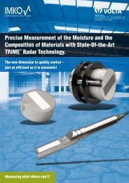 Precise Measurement of the Moisture and the Composition of ...