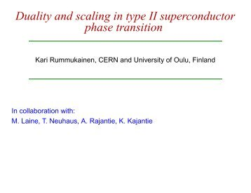 Duality and scaling in type II superconductor phase transition
