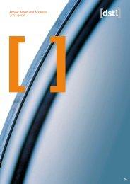 Annual report 07/08 - Dstl