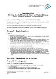 Deel 2 Klachtenregeling - Stichting Speciaal Onderwijs Noord