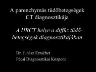 A parenchymás tüdőbetegségek CT diagnosztikája
