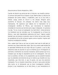 Discurso de la M. en C. Gloria Nelida Avecilla - Instituto de ...