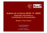 "Análisis de la Norma BCRA ""A"" 4609 - Cybsec"