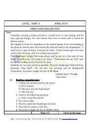 LEVEL : 3AM1.2 APRIL 2010 THIRD TERM ENGLISH TEST Page 1 ...
