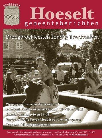 [2013] hoeselt - gemeenteberichten 251 juni.indd - Hoeselt.Be