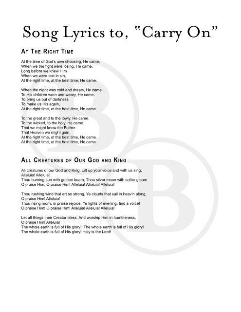 best on earth lyrics