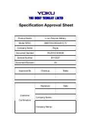 Specification Approval Sheet - Ropla Elektronik Sp. z oo