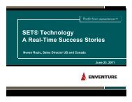 SET® Technology A Real-Time Success Stories