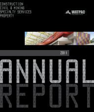 30 June 2011 Annual Report - Watpac