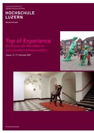 Top of Experience - bei Michael Zinganel