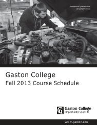 Fall 2013 Course Schedule - Gaston College