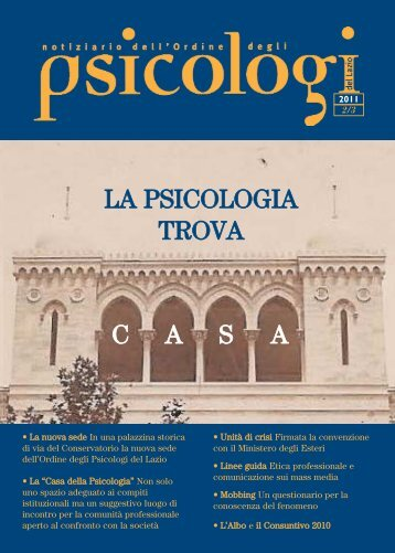 Notiziario n. 2-3/2011 - Ordine degli Psicologi del Lazio