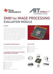 DM814x IMAGE PROCESSING - AIT Austrian Institute of Technology