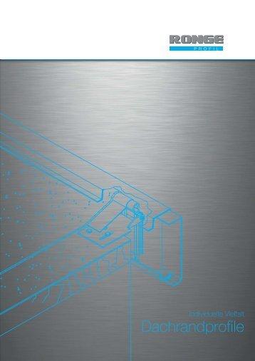 Flyer Dachrandprofile ok.FH10 - Ronge Profil GmbH & Co. KG