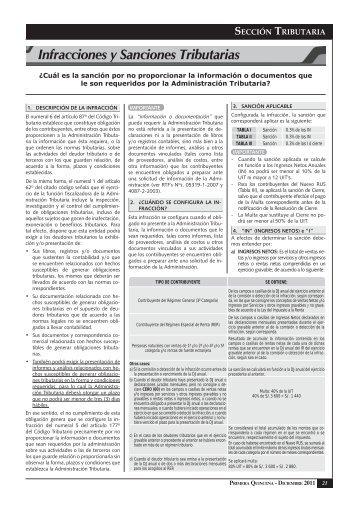 Infracciones y Sanciones Tributarias - Revista Asesor Empresarial