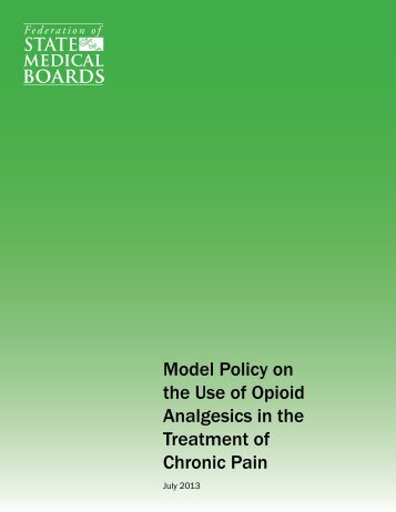 Model Policy on the Use of Opioid Analgesics in the Treatment of ...
