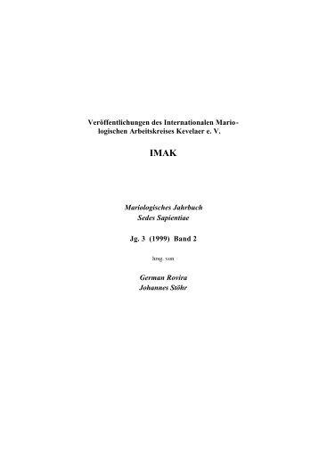 Mariologisches Jahrbuch, 3 (1999) Nr. 2 - Prof. Dr. Johannes Stöhr