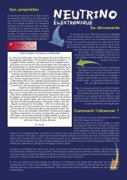 Neutrino électronique - L'aventure de la physique des particules ...