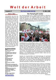 WdA März 2008 - Welt der Arbeit