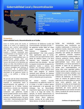Número 15 Mayo - Junio 2011 - Regionalcentrelac-undp.org