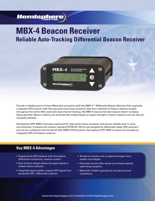 MBX-4 Beacon Receiver pdf - Bruttour International