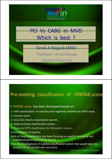 PCI Vs CABG in MVD PCI Vs CABG in MVD Which is best