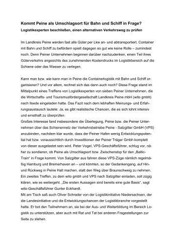 Pressemitteilung wito gmbh - Wirtschafts- und ...