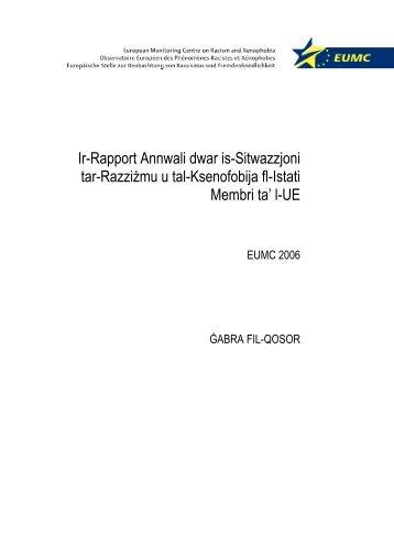 Prefazju għar-Rapport Annwali ta' l-2006 - Media Diversity Institute