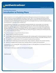 Introduction to Training Plans by Gale Bernhardt - Active.com