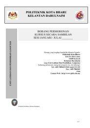 KSS - Politeknik Kota Bharu