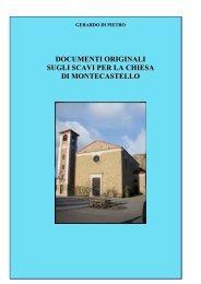documenti originali sugli scavi in contrada castellari