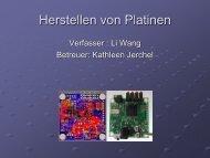 Herstellen von Platinen - Projektlabor