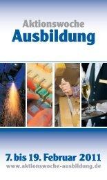Veranstaltungsbroschüre (PDF) - Aktionswoche Ausbildung