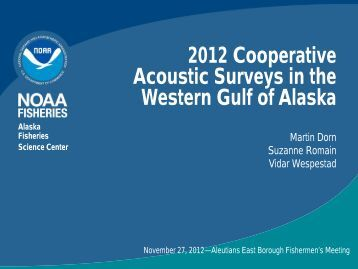 2012 Cooperative Acoustic Surveys in the Western ... - AEBfish.org