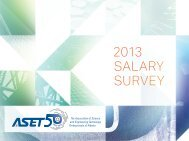2013 Salary Survey - ASET