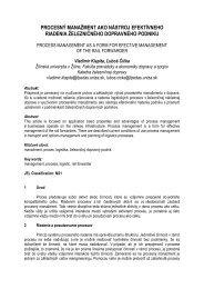 procesný manažment ako nástroj efektívneho riadenia železničného ...