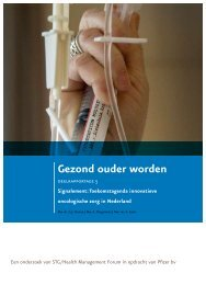 Gezond ouder worden - STG / Health Management Forum