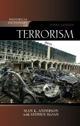 Historical Dictionary of Terrorism Third Edition