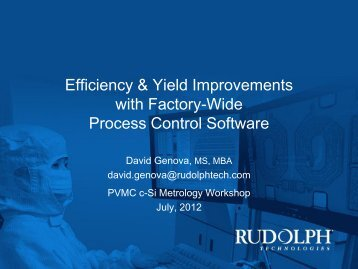 Efficiency & Yield Improvements with Factory-Wide Process ... - PVMC