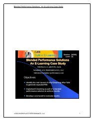 Blended Performance Solutions An E-Learning Case Study
