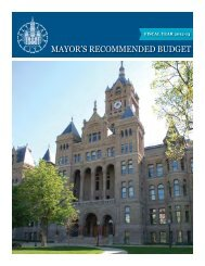 FY 2013 Mayor's Recommended Budget