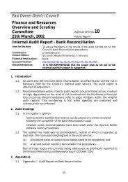 Internal Audit Report - Bank Reconciliation