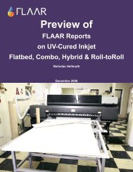 FLAAR Reports on UV-Cured Inkjet Flatbed, Combo, Hybrid