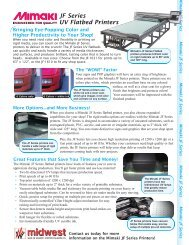 JF Series UV Flatbed Printers - Midwest Sign & Screen Printing Supply
