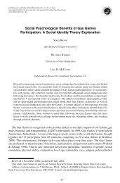 A Social Identity Theory Explanation