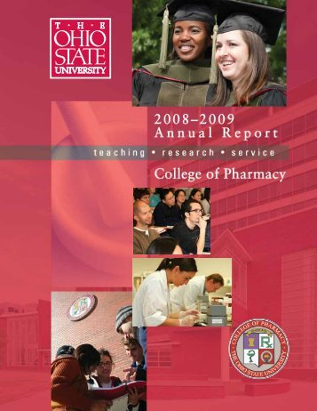 2009 Annual Report - College of Pharmacy - The Ohio State University
