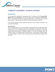 Technical Appendix Part I - City of Johns Creek